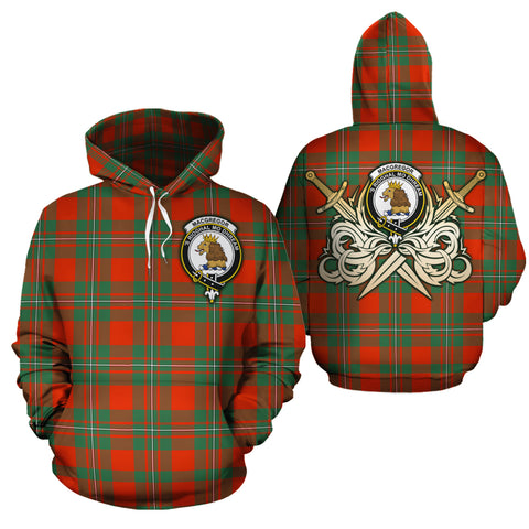 MacGregor Ancient Clan Crest Tartan Scottish Gold Thistle Hoodie