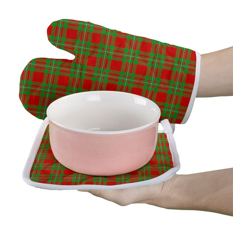 Image of MacGregor Modern Clan Tartan Scotland Oven Mitt And Pot-Holder (Set Of Two)