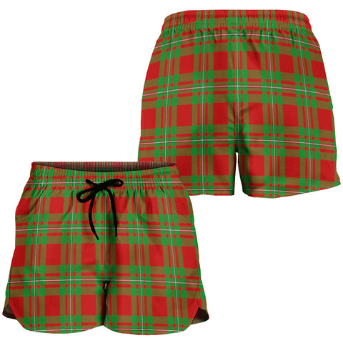 Image of MacGregor Modern Crest Tartan Shorts For Women K7
