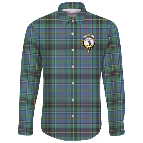 MacInnes Ancient Tartan Clan Long Sleeve Button Shirt | Scottish Clan
