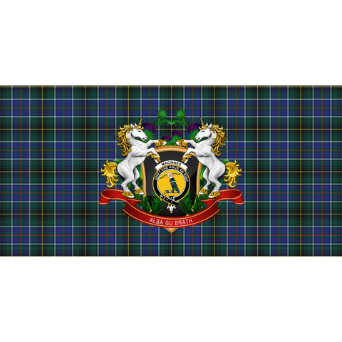 MacInnes Modern Crest Tartan Tablecloth Unicorn Thistle A30