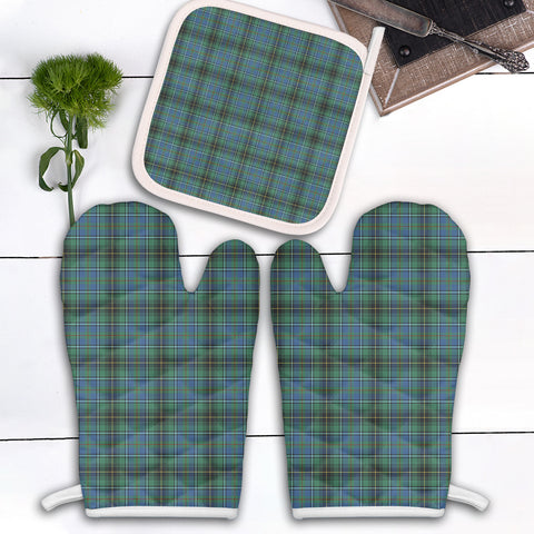 Image of MacInnes Ancient Clan Tartan Scotland Oven Mitt And Pot-Holder (Set Of Two)