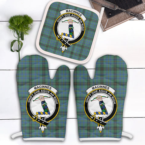 MacInnes Ancient Clan Crest Tartan Scotland Oven Mitt And Pot-Holder (Set Of Two)