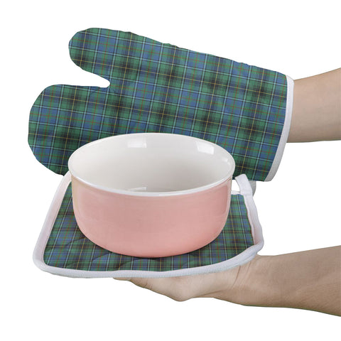 MacInnes Ancient Clan Tartan Scotland Oven Mitt And Pot-Holder (Set Of Two)