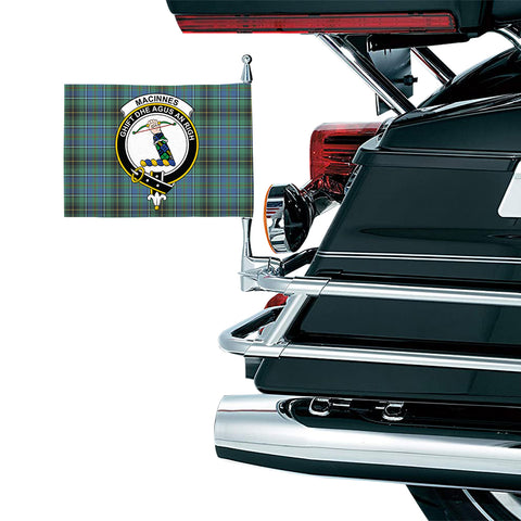 Image of MacInnes Ancient Clan Crest Tartan Motorcycle Flag
