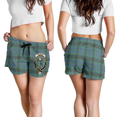 MacInnes Ancient Crest Tartan Shorts For Women K7