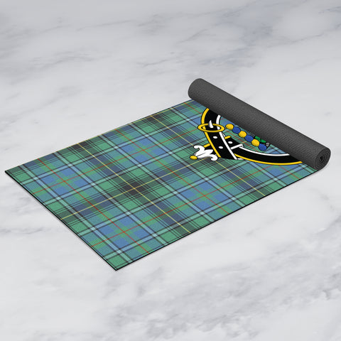 Image of MacInnes Ancient Clan Crest Tartan Yoga mats