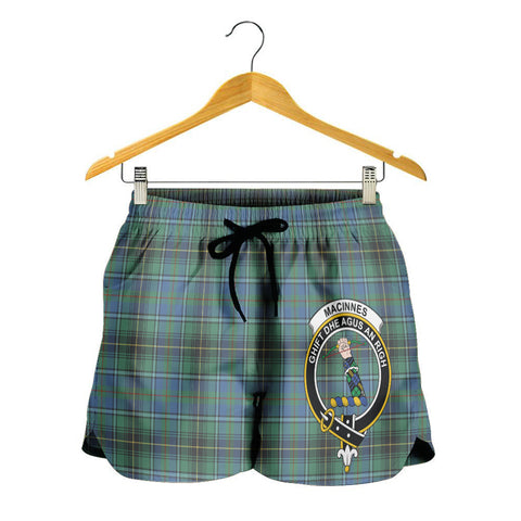 Image of MacInnes Ancient Crest Tartan Shorts For Women K7