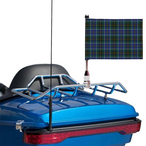 Image of MacInnes Modern Clan Tartan Motorcycle Flag