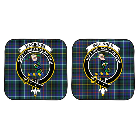 Image of MacInnes Modern Clan Crest Tartan Scotland Car Sun Shade 2pcs K7
