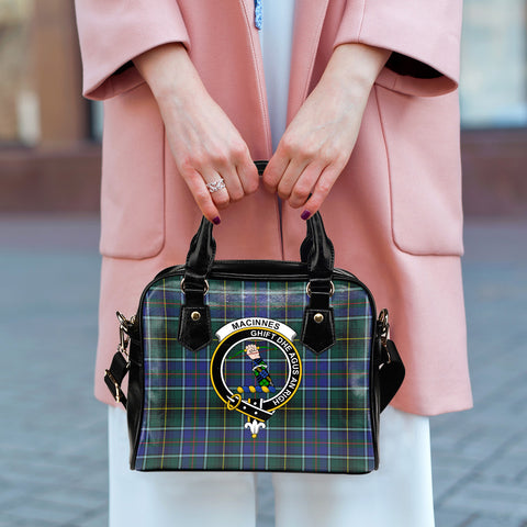 MacInnes Modern Tartan Clan Shoulder Handbag | Special Custom Design