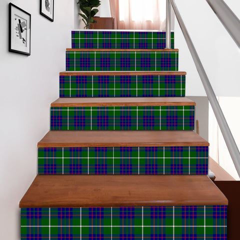 Scottishshop Tartan Stair Stickers - MacIntyre Hunting Modern Stair Stickers A91