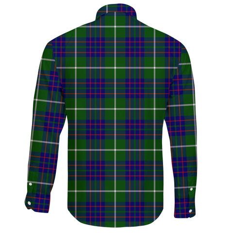 MacIntyre Hunting Modern Tartan Clan Long Sleeve Button Shirt A91