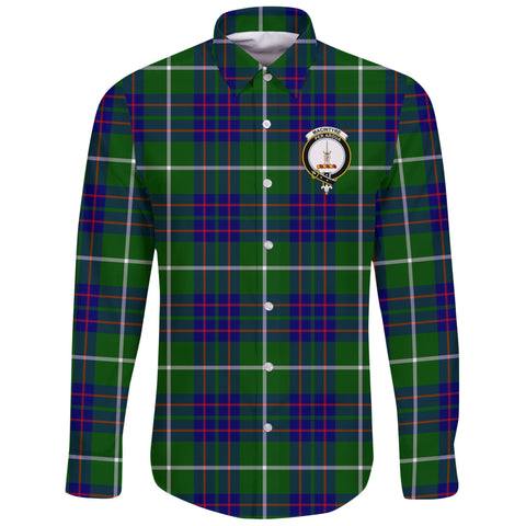 MacIntyre Hunting Modern Tartan Clan Long Sleeve Button Shirt | Scottish Clan