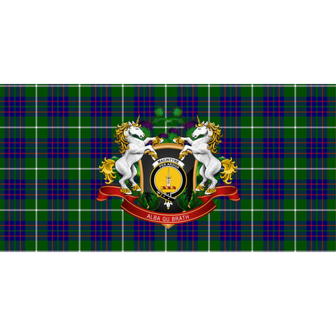 MacIntyre Hunting Modern Crest Tartan Tablecloth Unicorn Thistle A30