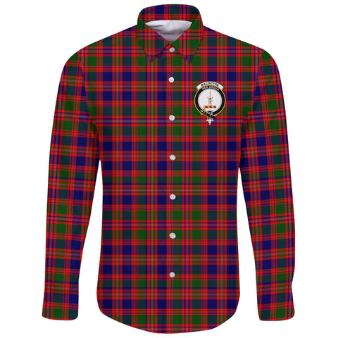 MacIntyre Modern Tartan Clan Long Sleeve Button Shirt | Scottish Clan