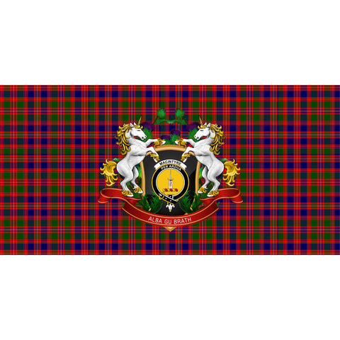 Image of MacIntyre Modern Crest Tartan Tablecloth Unicorn Thistle A30