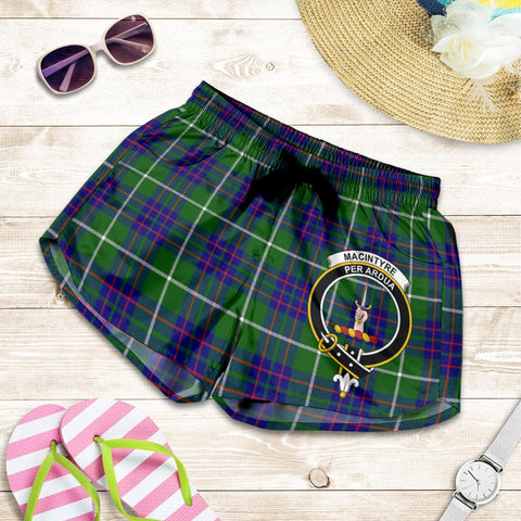 MacIntyre Hunting Modern crest Tartan Shorts For Women