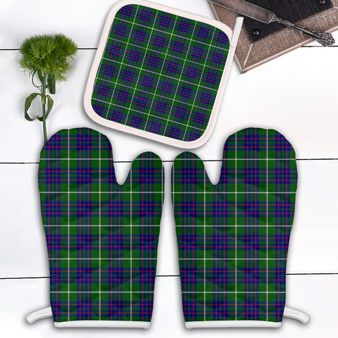 MacIntyre Hunting Modern Clan Tartan Scotland Oven Mitt And Pot-Holder (Set Of Two)