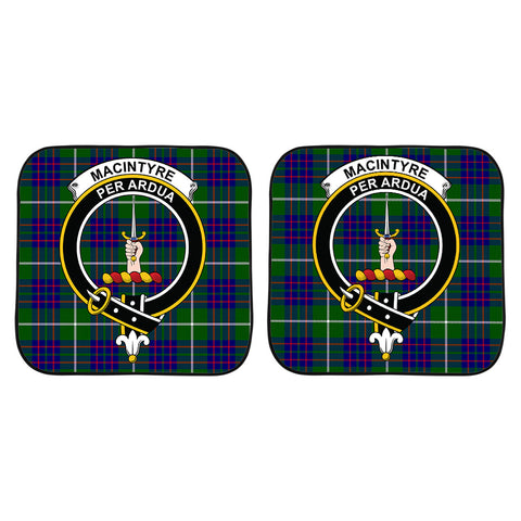 Image of MacIntyre Hunting Modern Clan Crest Tartan Scotland Car Sun Shade 2pcs K7