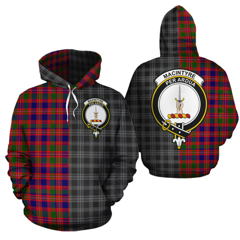 MacIntyre Modern Clan Half Of Me New Version Crest Tartan Hoodie