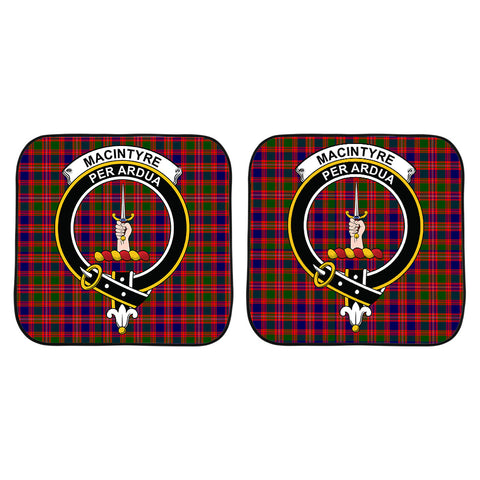 Image of MacIntyre Modern Clan Crest Tartan Scotland Car Sun Shade 2pcs K7