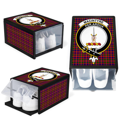 Image of MacIntyre Modern Clan Crest Tartan Scottish Shoe Organizers K9