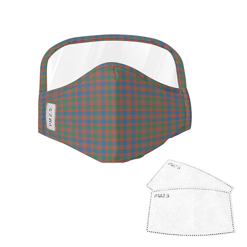 MacIntyre Ancient Tartan Face Mask With Eyes Shield - Blue, Green & Orange  Plaid Mask TH8