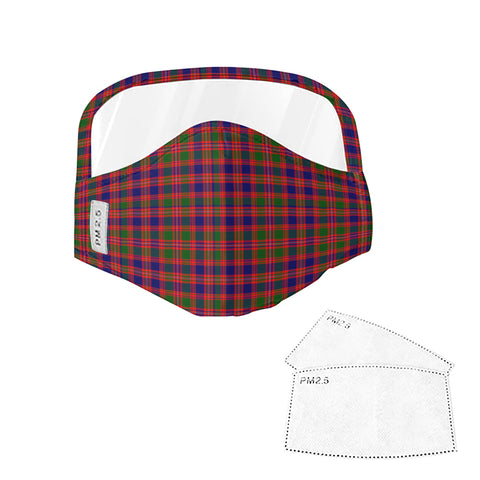 MacIntyre Modern Tartan Face Mask With Eyes Shield - Red, Blue & Green  Plaid Mask TH8