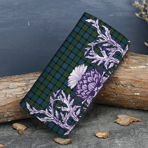 Image of MacKay Modern Tartan Wallet Women's Leather Thistle A91