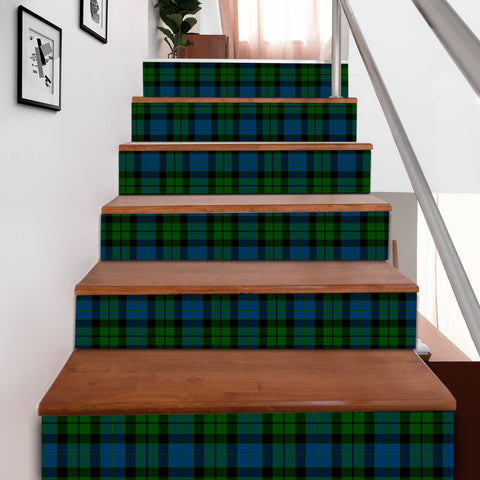 Scottishshop Tartan Stair Stickers - MacKay Modern Stair Stickers A91