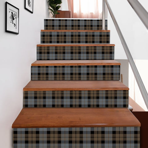 Scottishshop Tartan Stair Stickers - MacKay Weathered Stair Stickers A91
