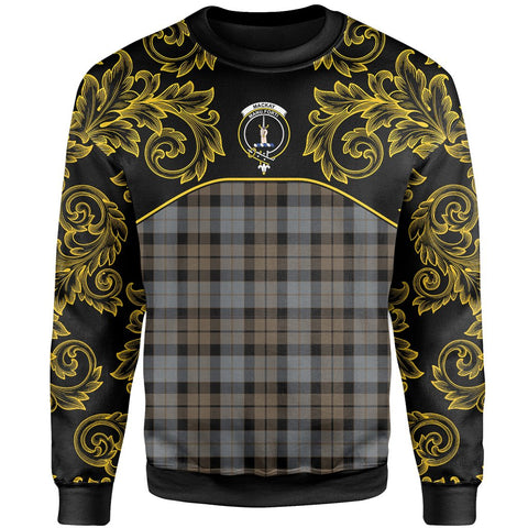 MacKay Weathered Tartan Clan Crest Sweatshirt - Empire I - HJT4 - Scottish Clans Store - Tartan Clans Clothing - Scottish Tartan Shopping - Clans Crest - Shopping In scottishclans - Sweatshirt For You