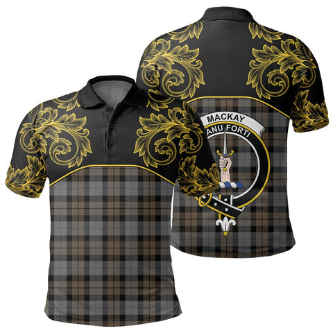 MacKay Weathered Tartan Clan Crest Polo Shirt - Empire I - HJT4