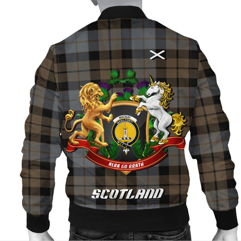 MacKay Weathered | Tartan Bomber Jacket | Scottish Jacket | Scotland Clothing