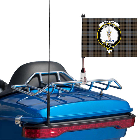 MacKay Weathered Clan Crest Tartan Motorcycle Flag