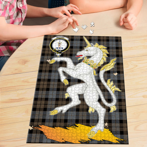 MacKay Weathered Clan Crest Tartan Unicorn Scotland Jigsaw Puzzle