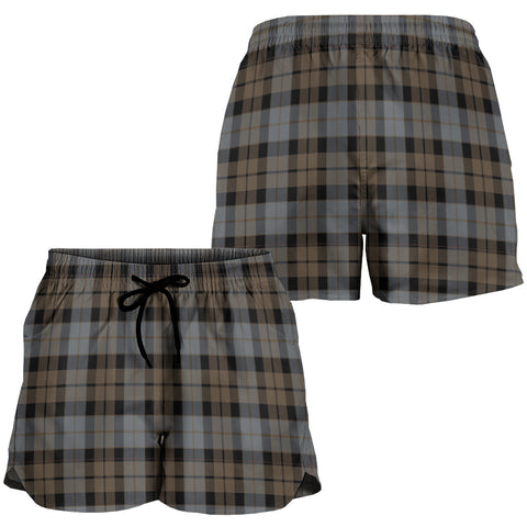 MacKay Weathered Crest Tartan Shorts For Women K7