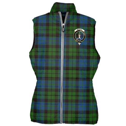 MacKay Tartan Puffer Vest for Men and Women - Clan Badge