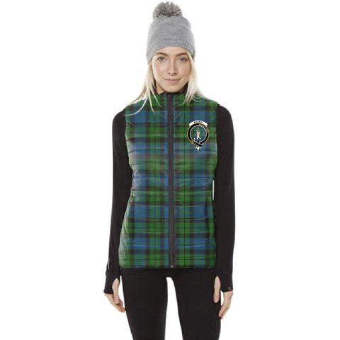 Image of MacKay Tartan Puffer Vest for Men and Women - Clan Badge