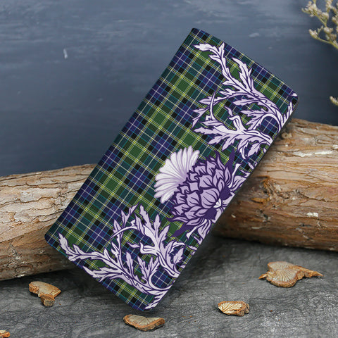 MacKellar Tartan Wallet Women's Leather Thistle A91