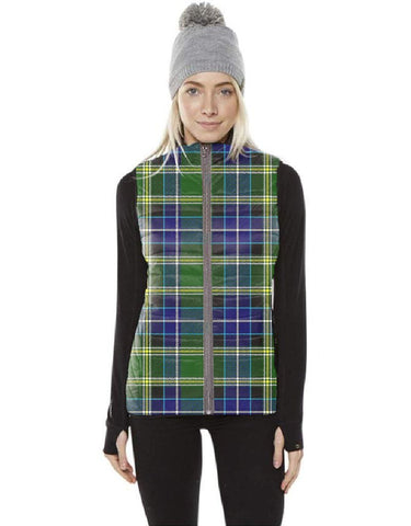 MacKellar Tartan Puffer Vest for Men and Women K7