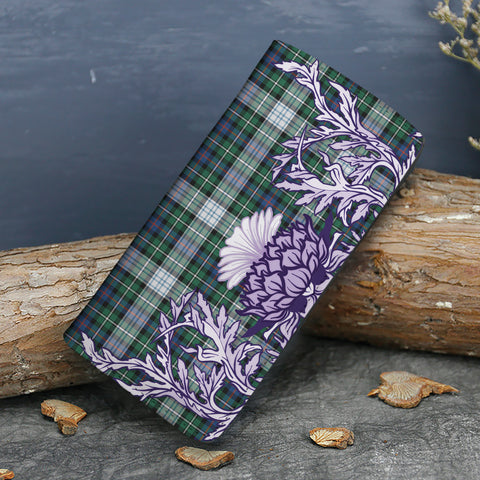 MacKenzie Dress Ancient Tartan Wallet Women's Leather Thistle A91