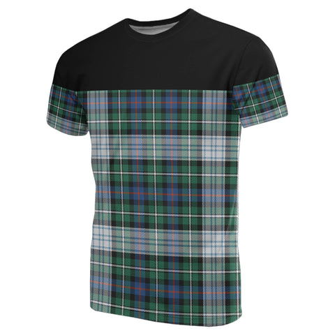 Tartan Horizontal T-Shirt - Mackenzie Dress Ancient