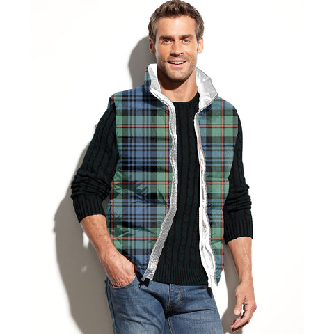 MacKinlay Ancient Tartan Puffer Vest for Men and Women K7