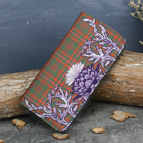 Image of MacKinnon Ancient Tartan Wallet Women's Leather Thistle A91