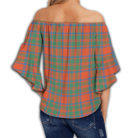 MacKintosh Ancient Tartan Crest Off Shoulders Wrap Waist Top