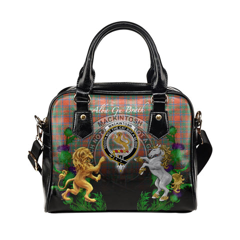MacKintosh Ancient Crest Tartan Lion Unicorn Thistle Shoulder Handbag