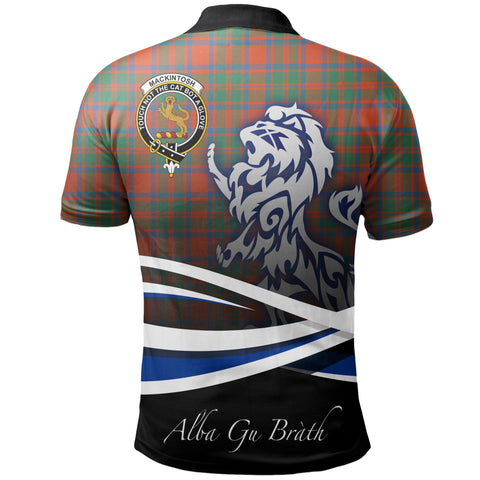 MacKintosh Ancient Polo Shirts Tartan Crest Scotland Lion A30