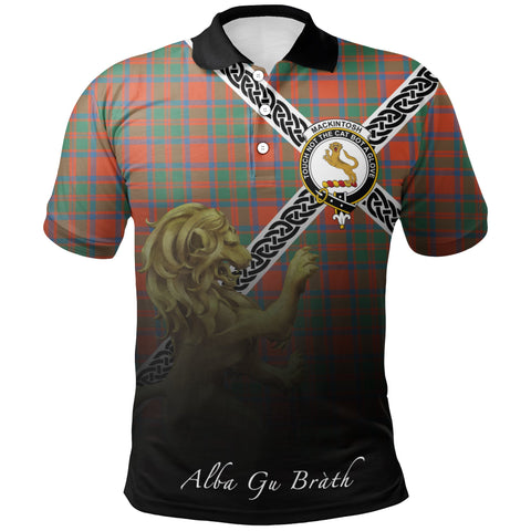 MacKintosh Ancient Polo Shirts Tartan Crest Celtic Scotland Lion A30